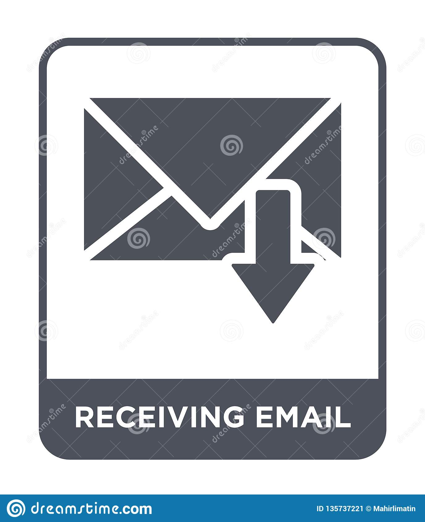 receiving email icon in trendy design style. receiving email icon isolated on white background. receiving email vector icon simple