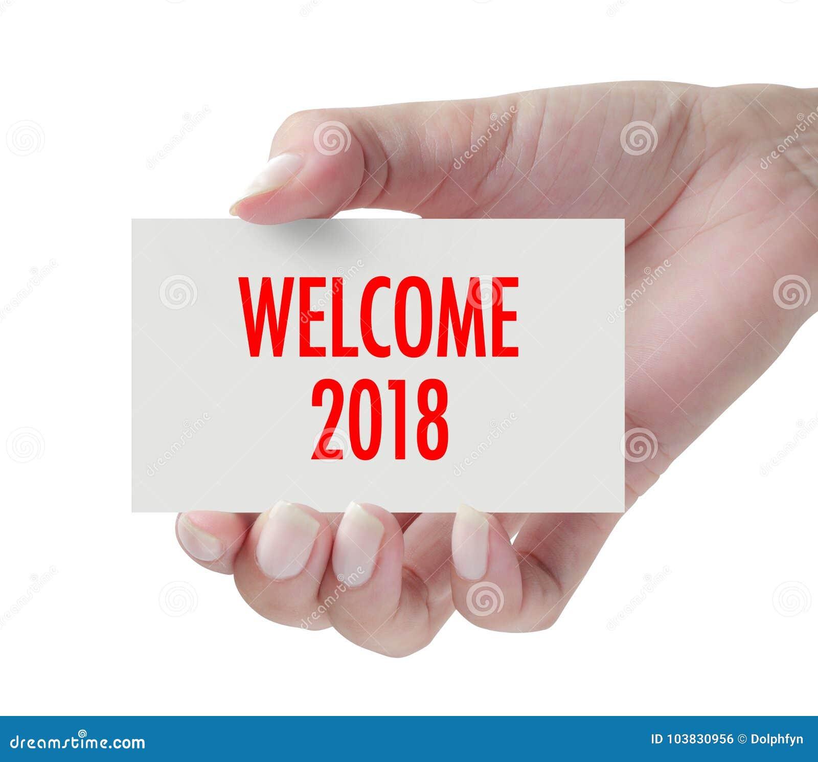 Recepción 2018 con la mano