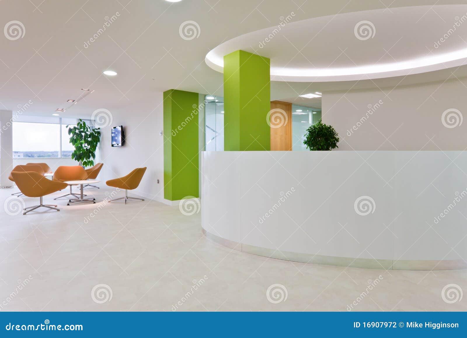 Recepci n moderna de la oficina for Recepcion oficina moderna