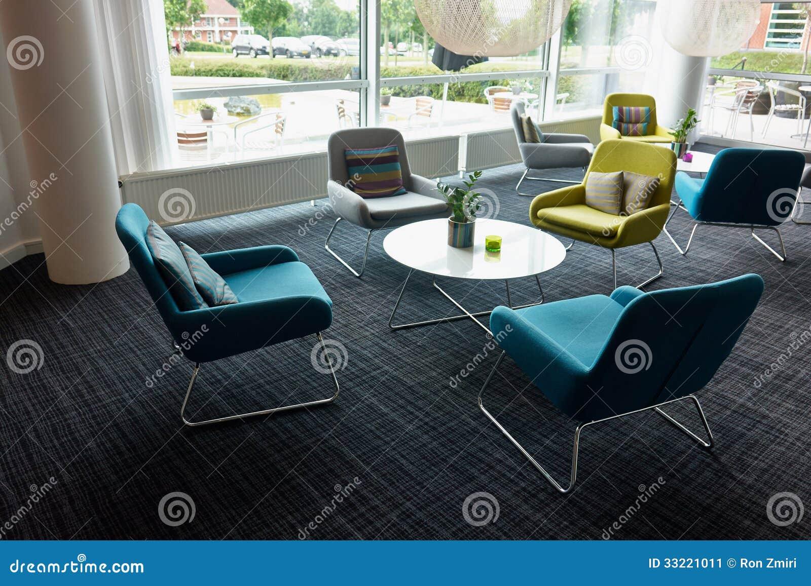Recepci n moderna de la sala de espera imagen de archivo for Recepcion oficina moderna