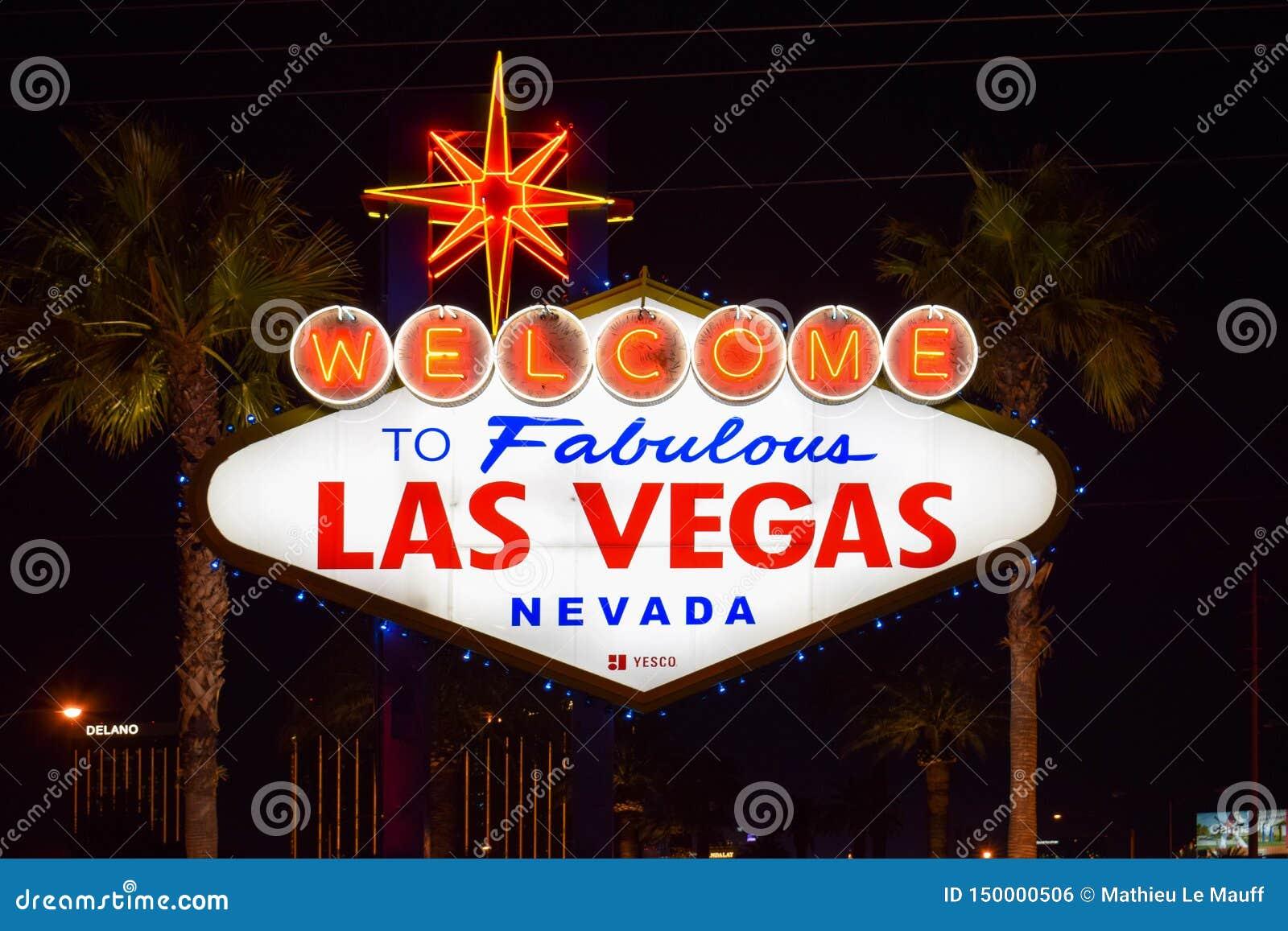 Recepci?n a Las Vegas fabuloso Nevada Sign
