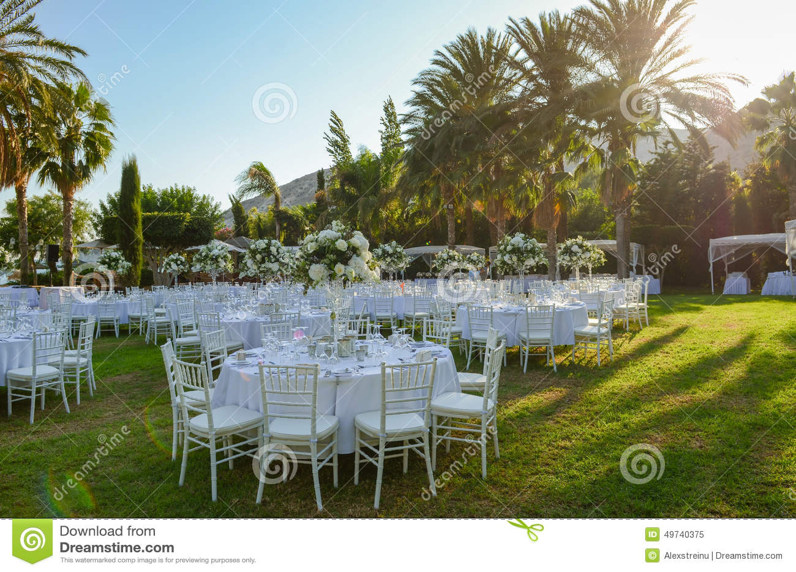 Decoracion Al Aire Libre Para Casamiento ~   de archivo Recepci?n nupcial al aire libre Decoraciones de la boda