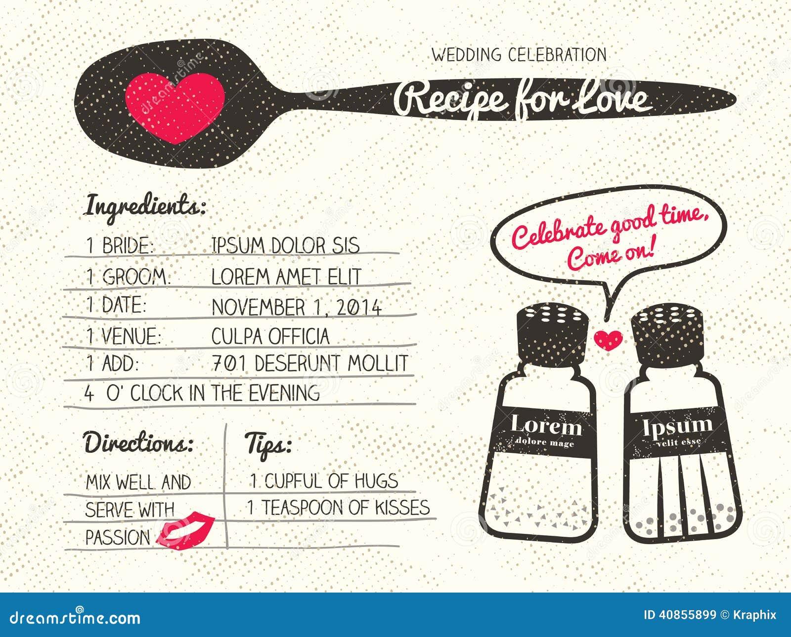 Recept för idérik bröllopinbjudan för förälskelse