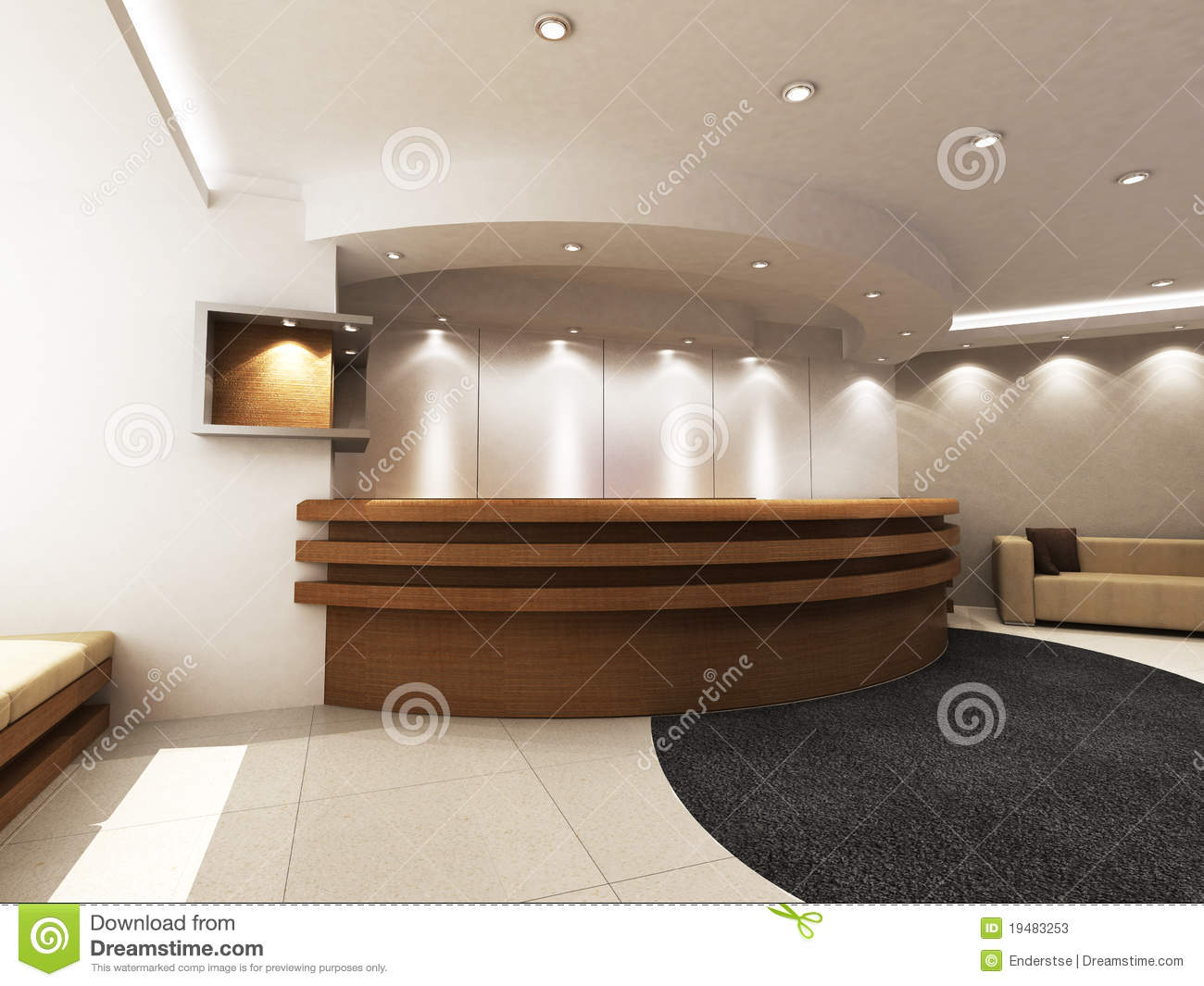 Reception Area Stock Illustration Image Of Hall Built
