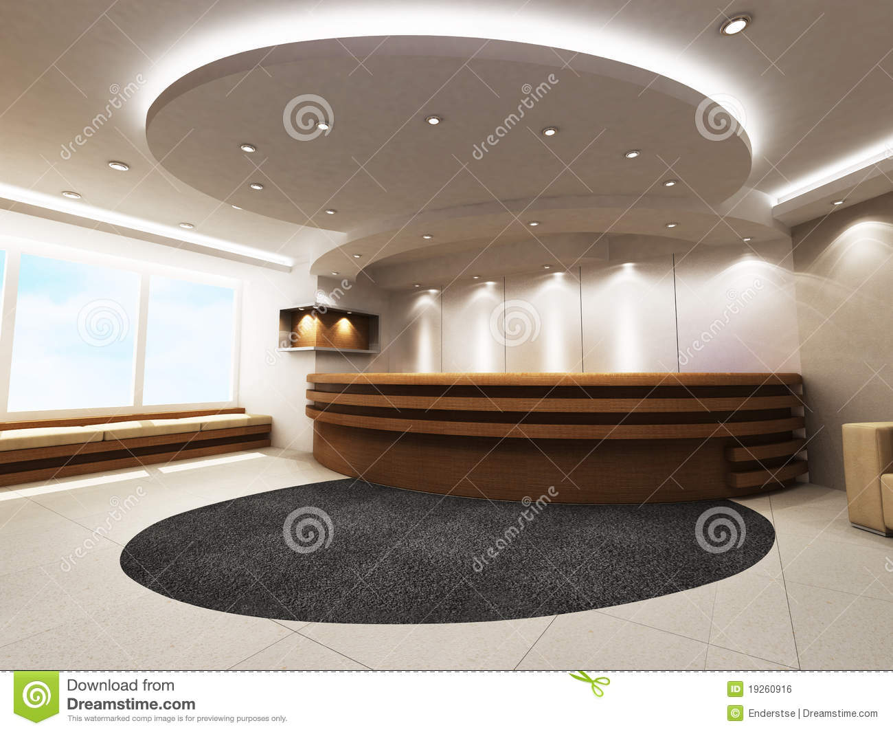 Reception Counter Royalty Free Stock Image - Image: 19260916