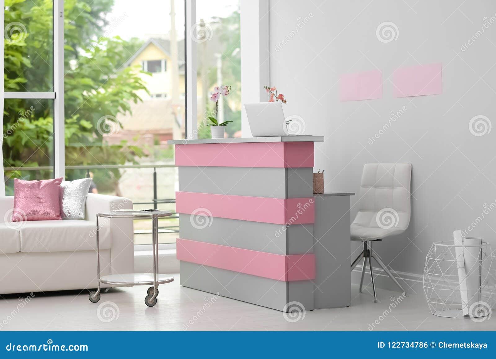 Reception Desk In Beauty Salon Stock Photo Image Of Fashion