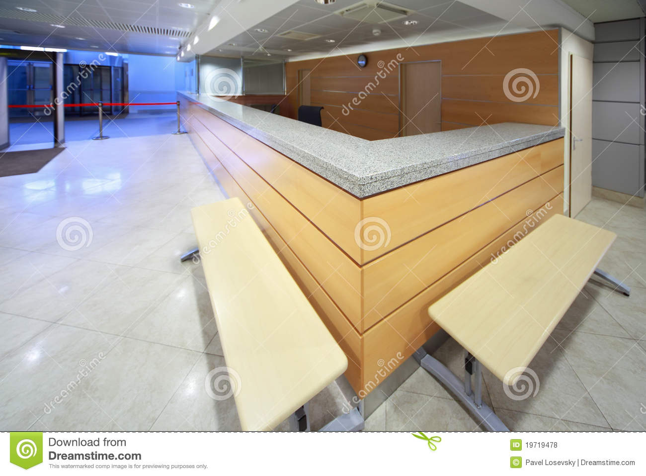 Royalty Free Stock Photos: Reception desk on included in establishment