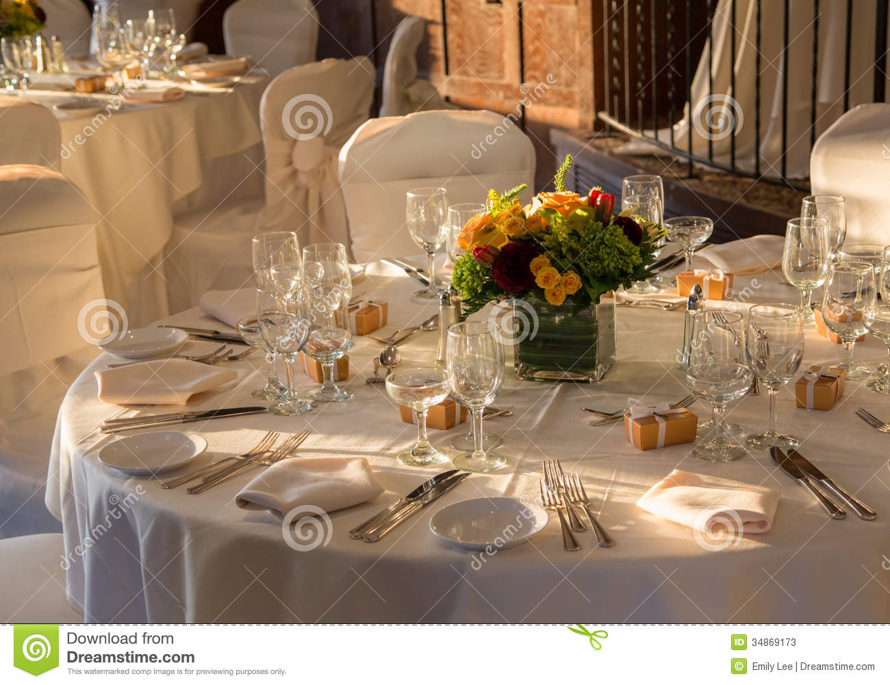 Reception Hall Ready Stock Image Image Of Chandelier