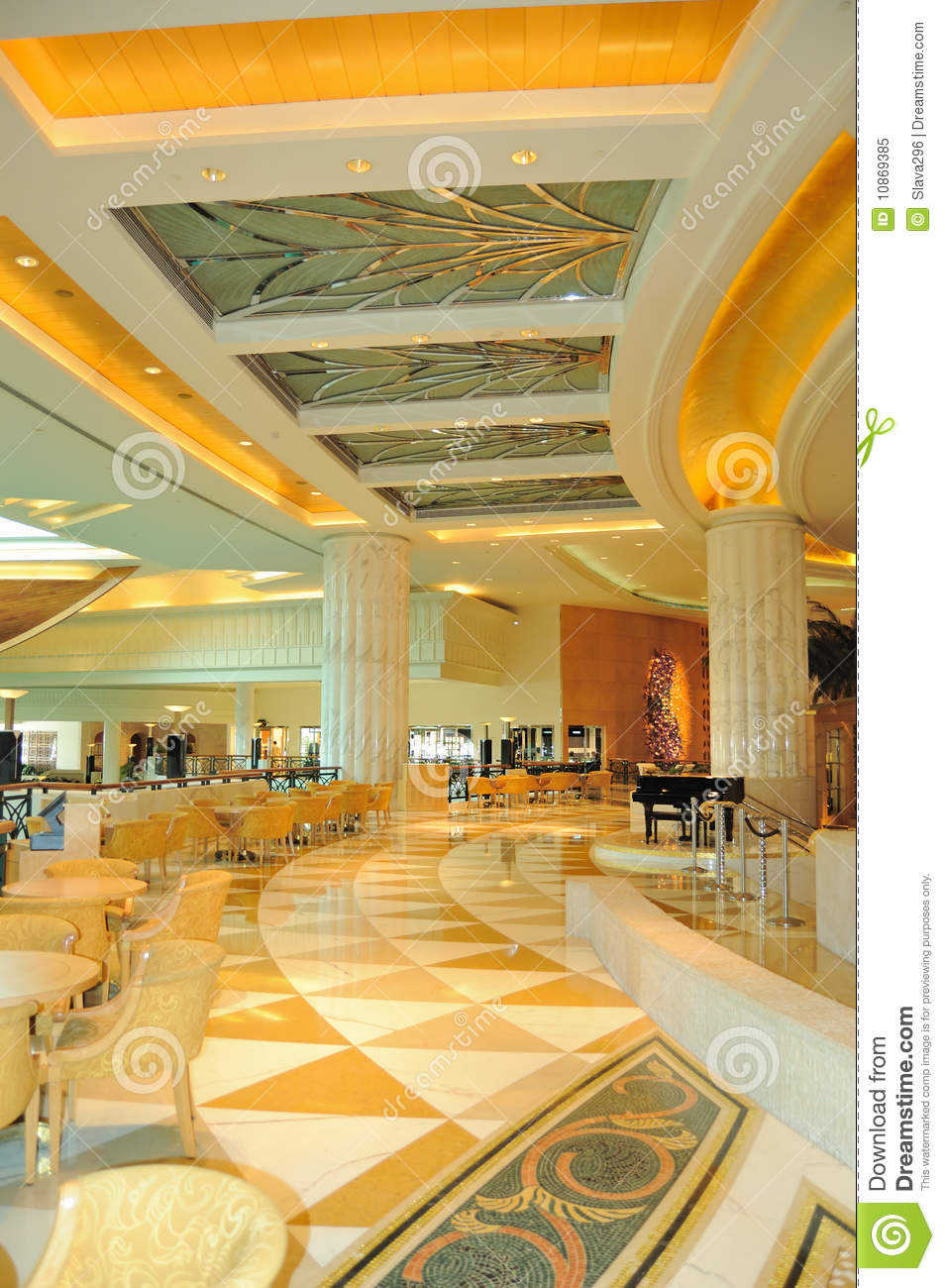 Reception Lobby Area In Luxurious Hotel Stock Image ...