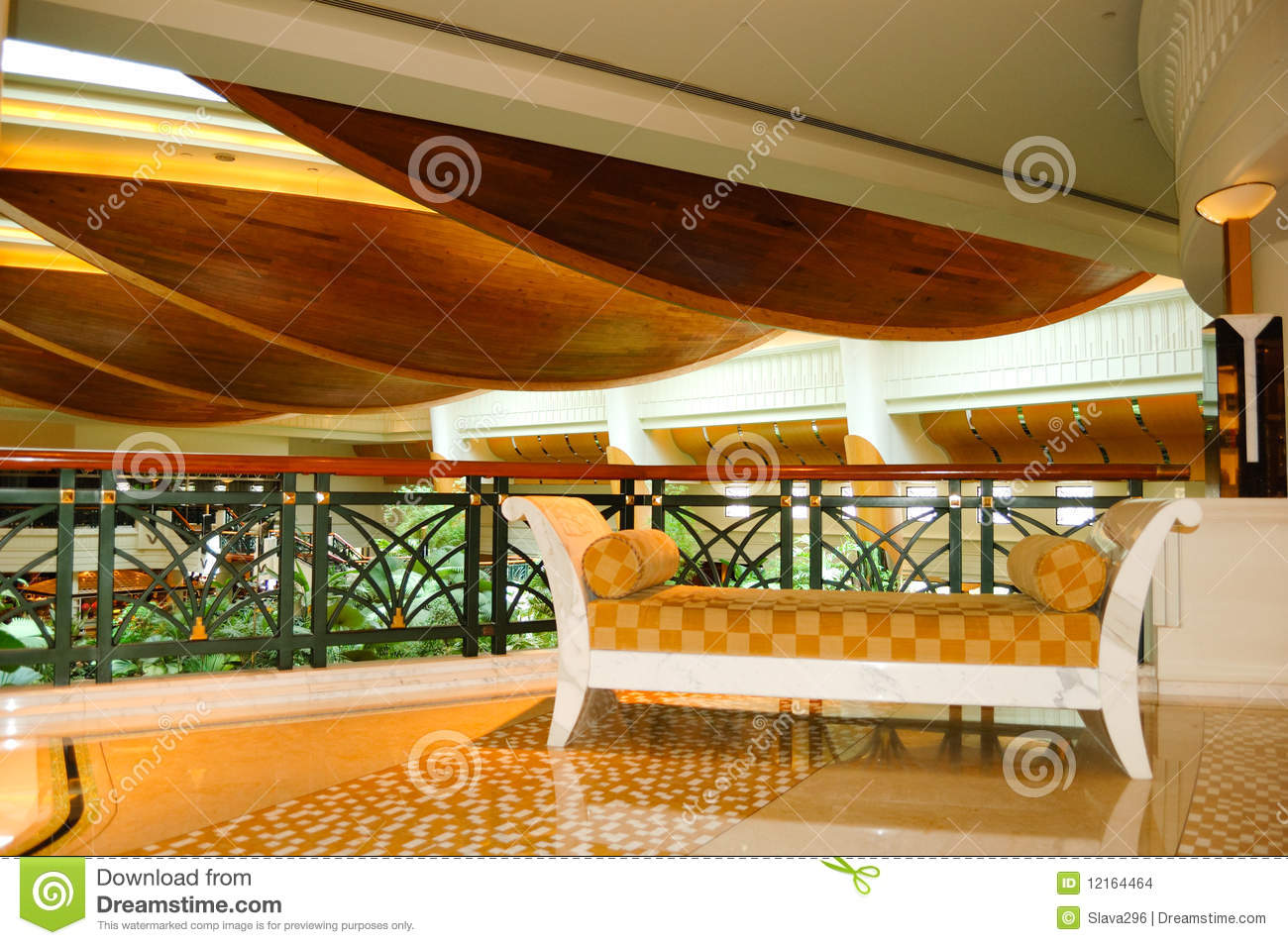 reception lobby area in luxury hotel stock images image 12164464