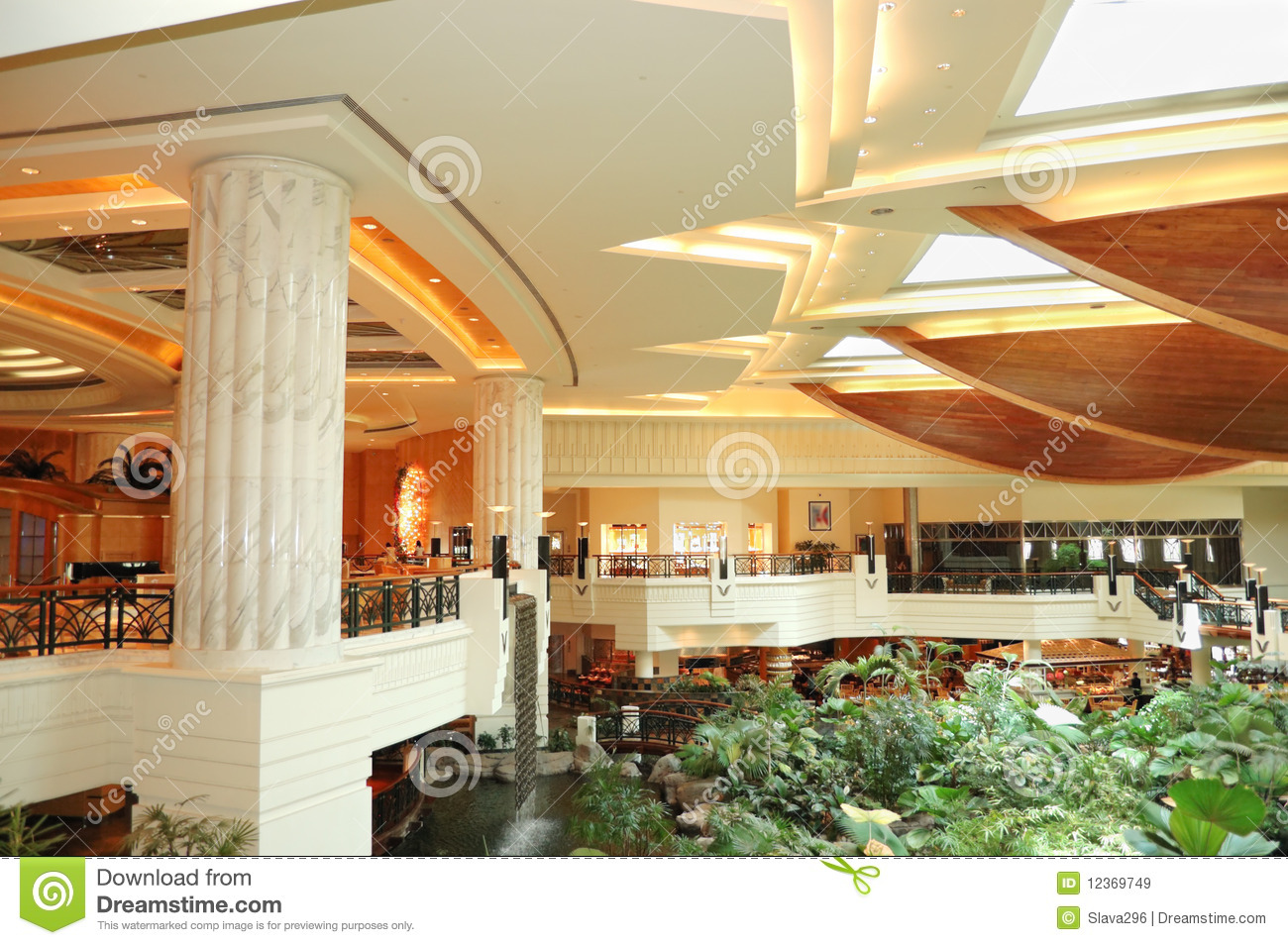 reception lobby area in luxury hotel royalty free stock images image
