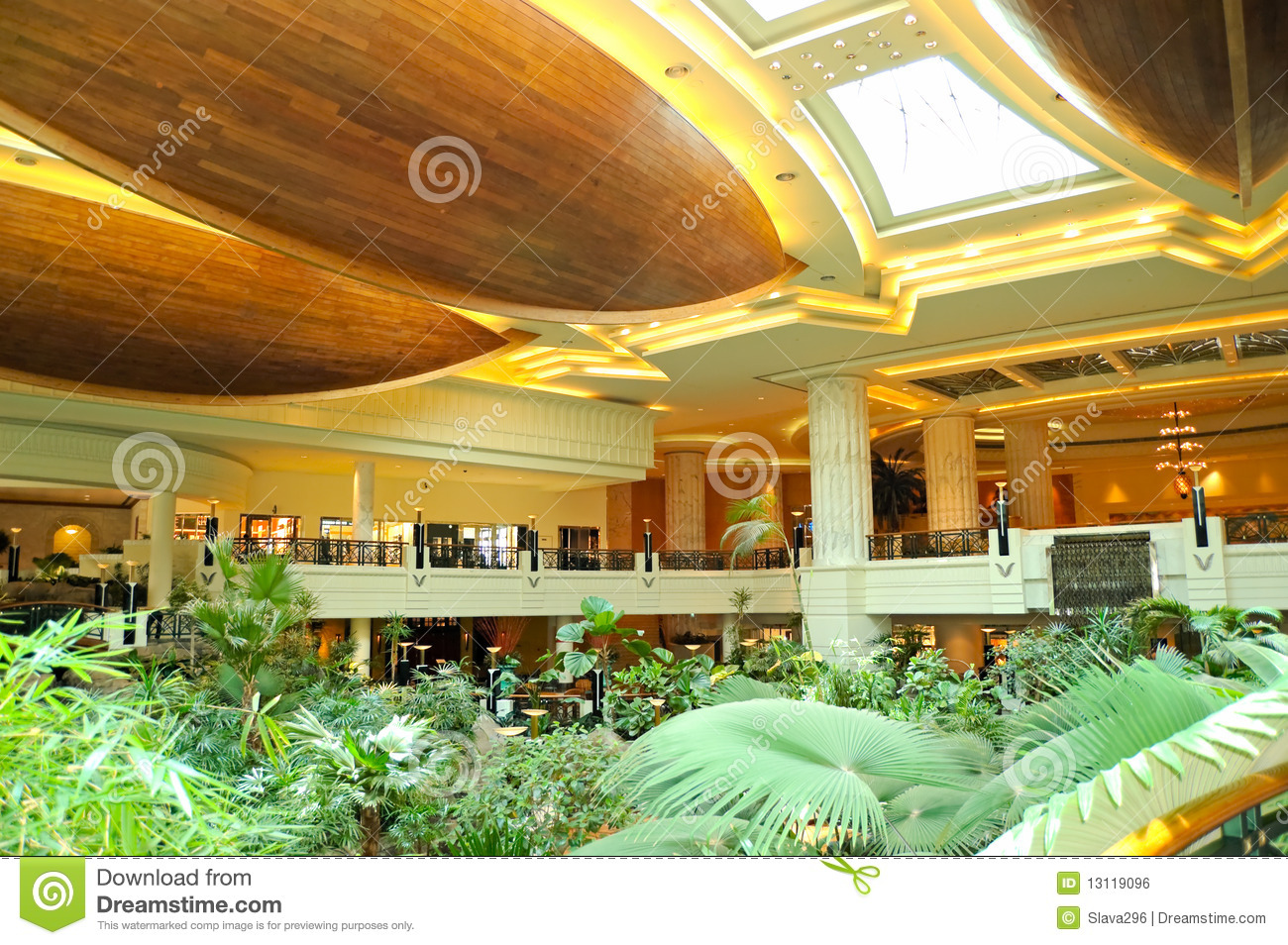 Reception Lobby Area In Luxury Hotel Stock Photo Image