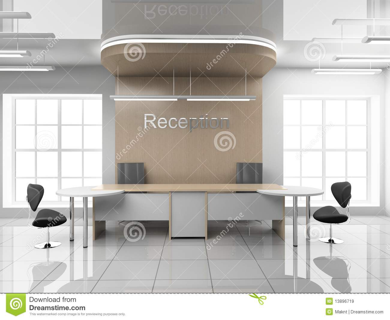 Reception at office