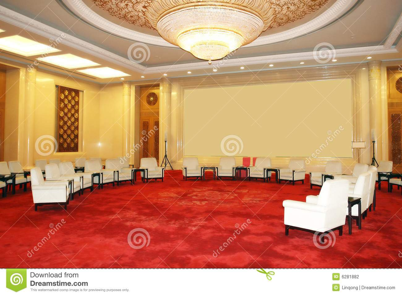 Reception room stock photo  Image of chinese, forum