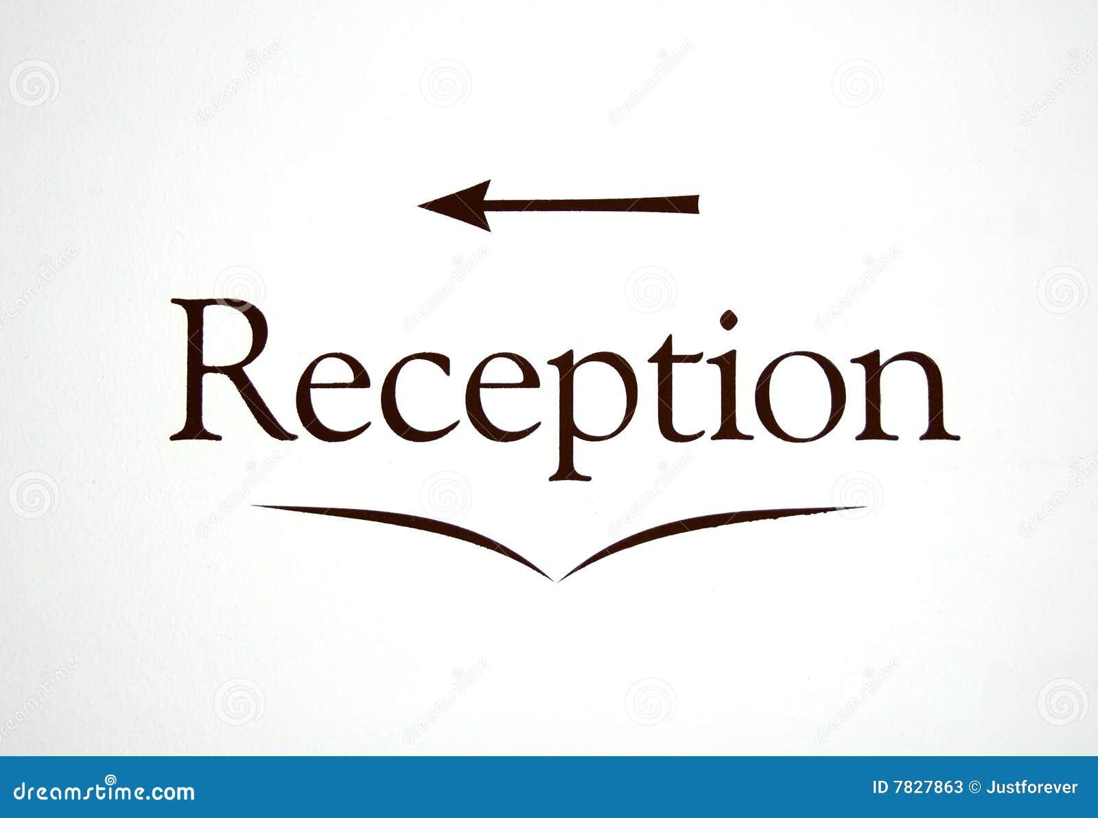 Reception Sign Stock Photos