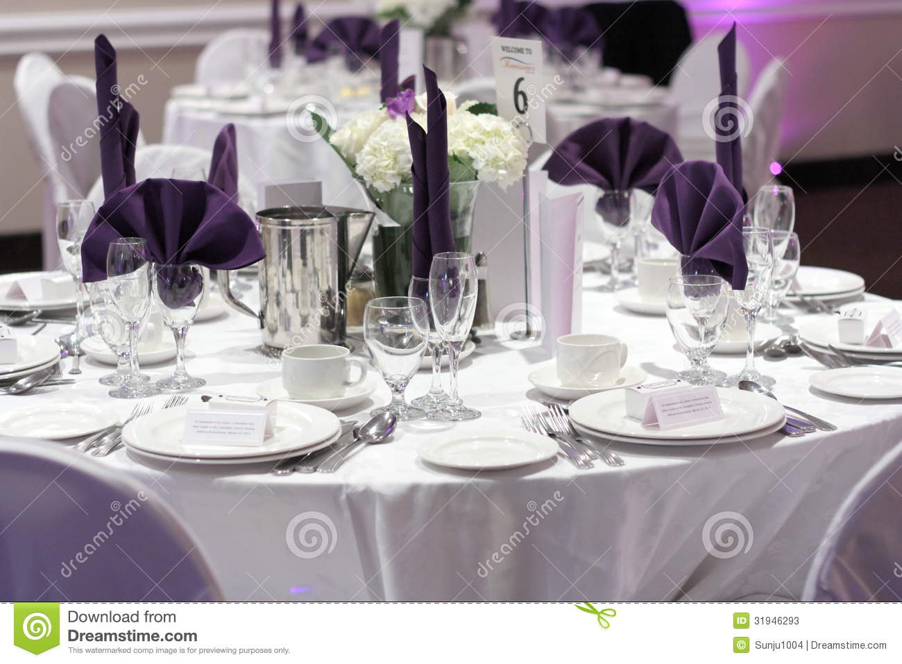 Reception stock photos image 31946293 for Simple table setting