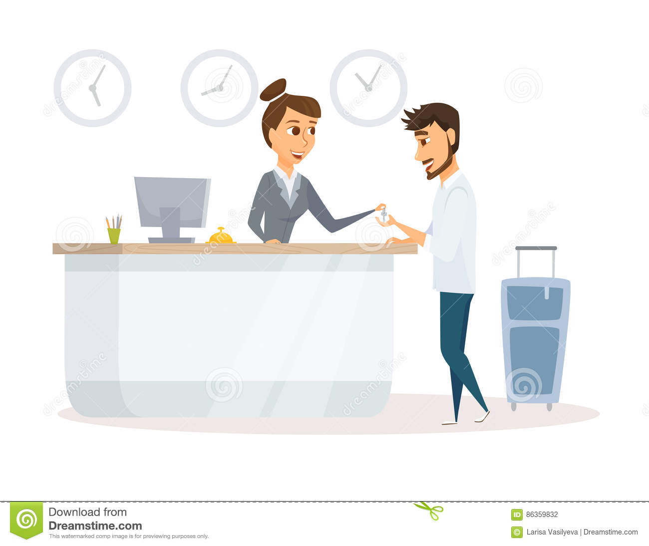 Hotel manager does customer relations lj 10