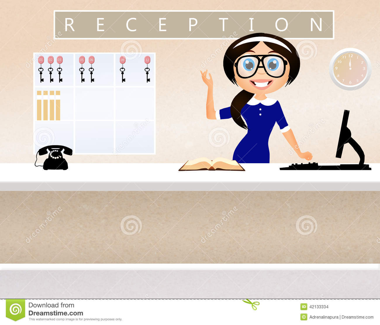 Receptionist In Hotel Stock Illustration Image