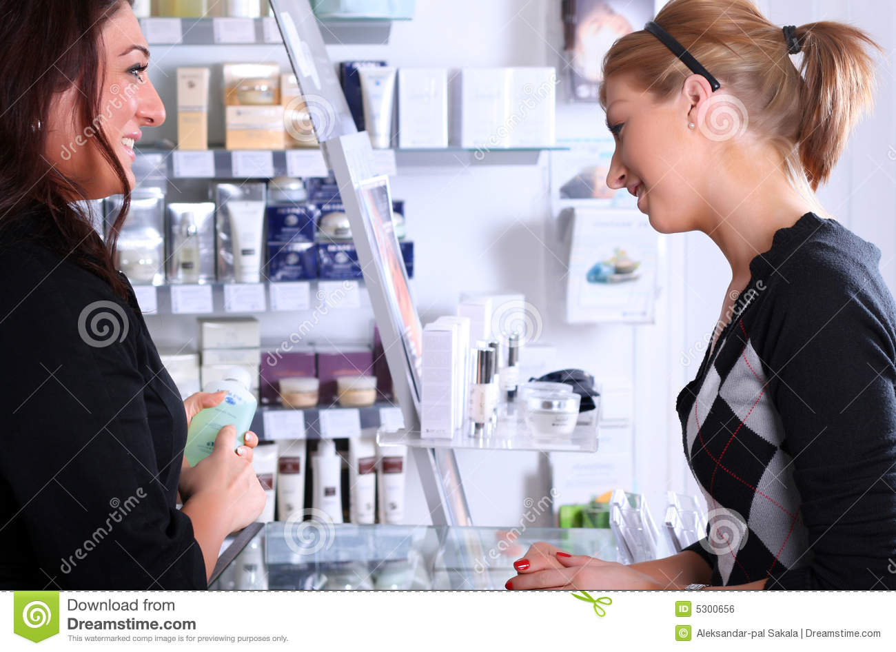 Receptionist Talking With A Customer Royalty Free Stock