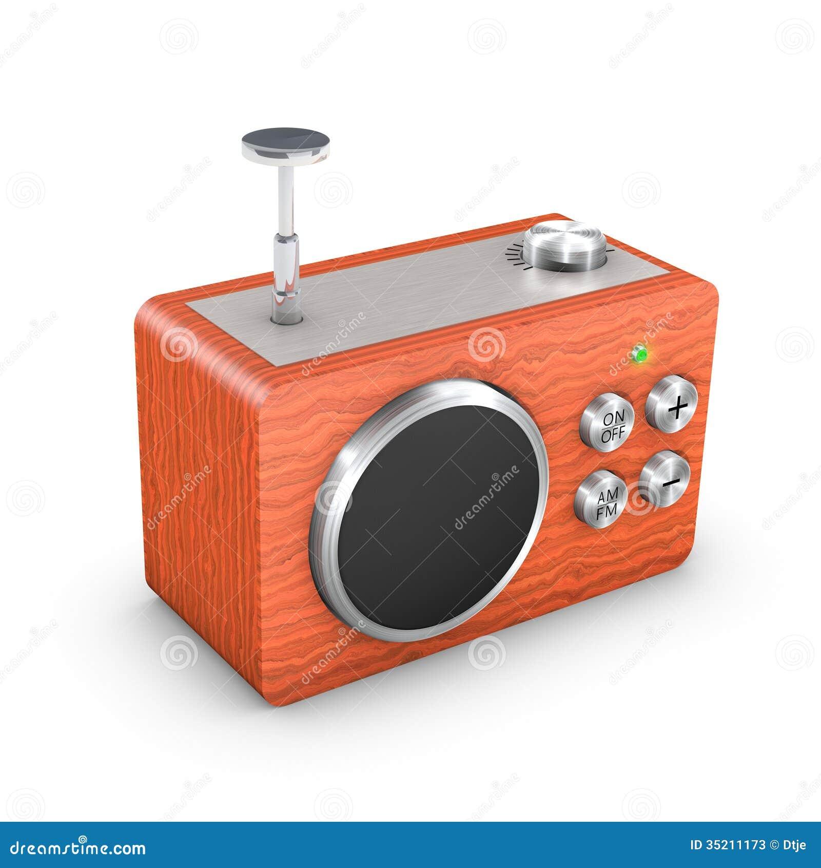 Receptor de rádio do vintage