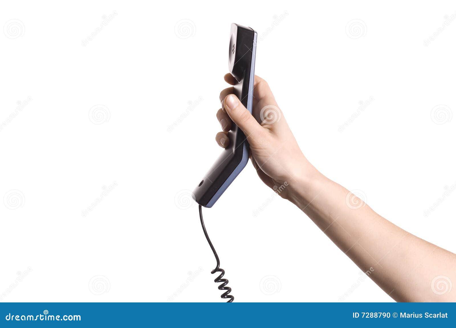 Receptor de teléfono de la explotación agrícola de la mano