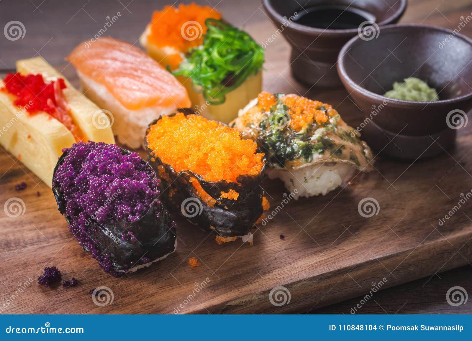 Receta Del Japonés Del Sushi Foto De Archivo Imagen De