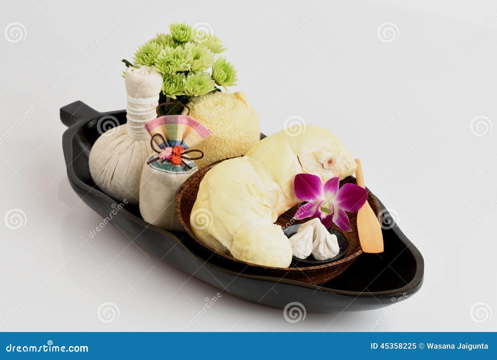 Recettes faciales de masque d acné avec le fruit et le carbonate de calcium de durian