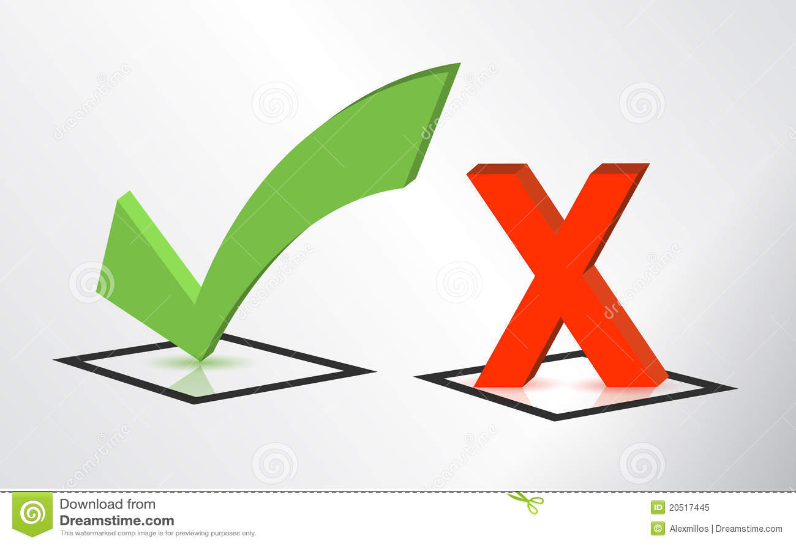 Recevez et baissez les signes de repère de contrôle et de x