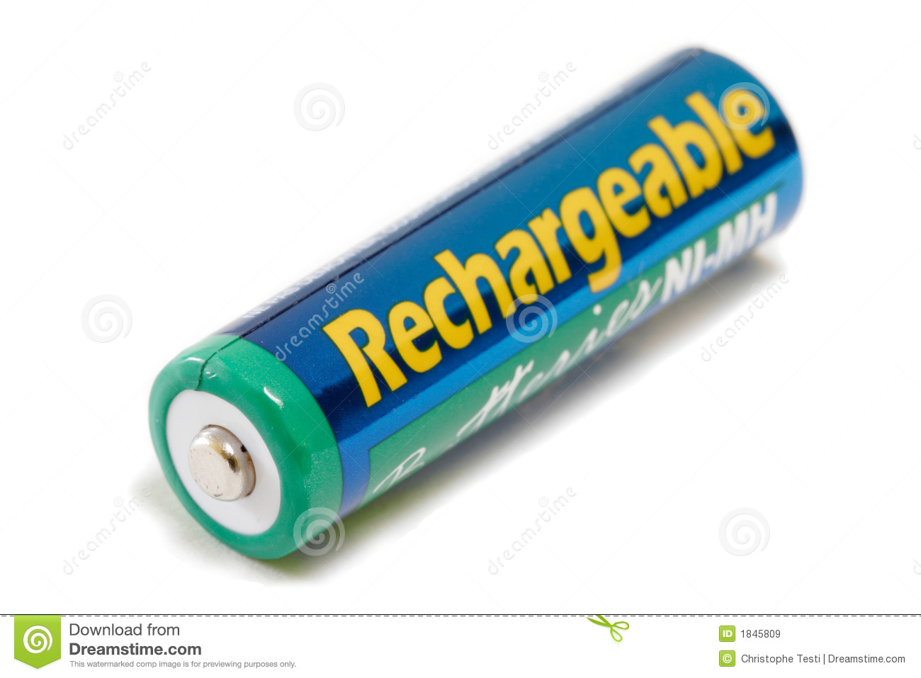 rechargeable aa battery stock image image of background 1845809