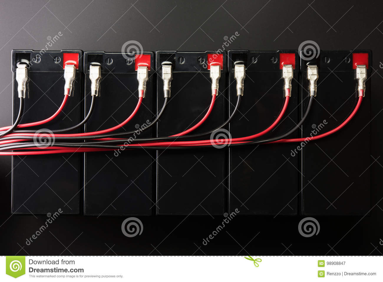 Rechargeable Batteries And Electrical Wires Industrial Battery Wiring In Parallel
