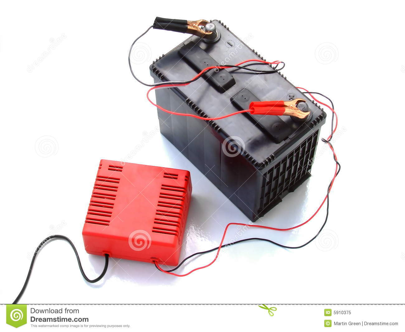 Recharging A Car Battery Royalty Free Stock Image