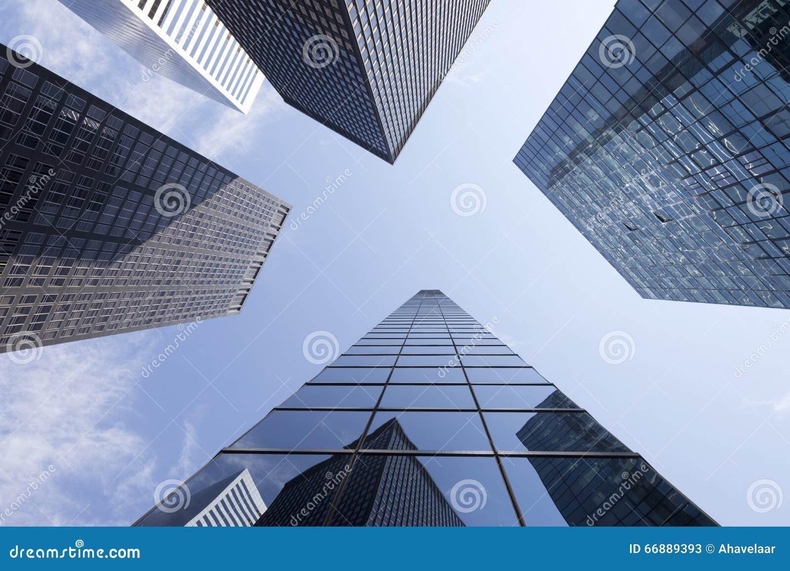 Mur du b timent de bureaux moderne de verre et de métal vue de