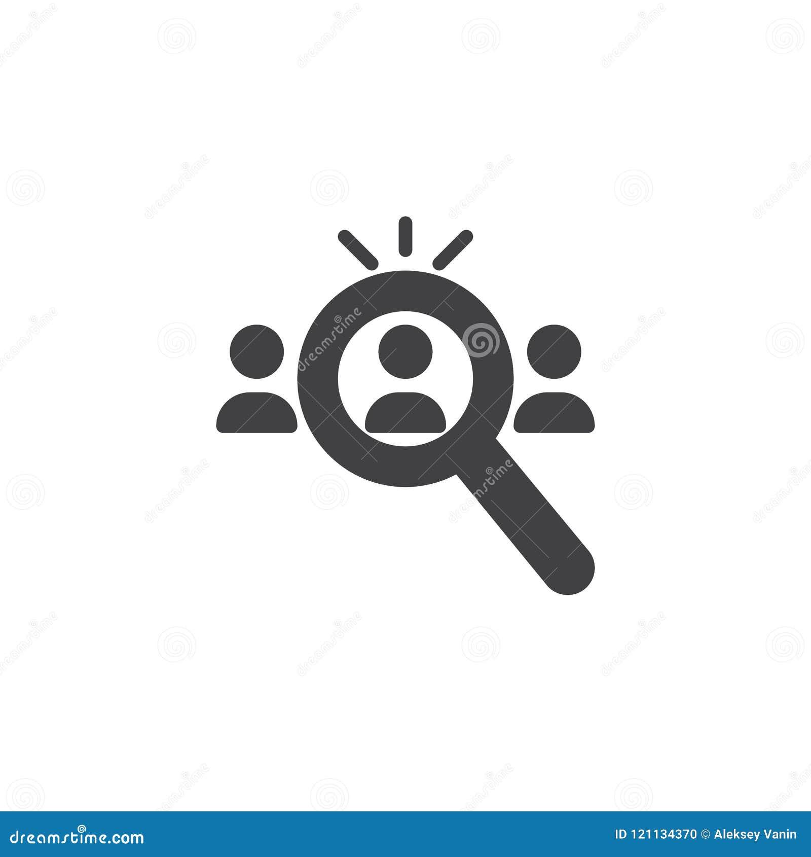 Recherche d icône de vecteur de candidats