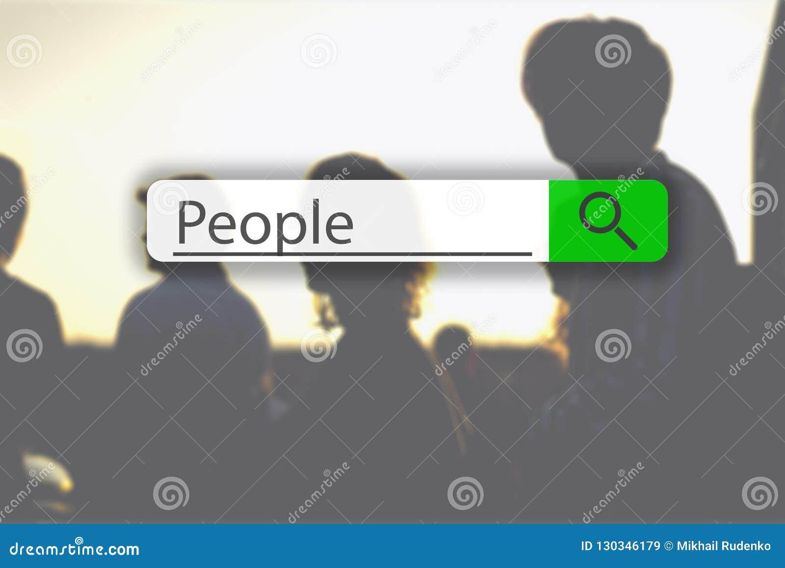Recherche de l étiquette sur l image de concept avec les personnes g de mot