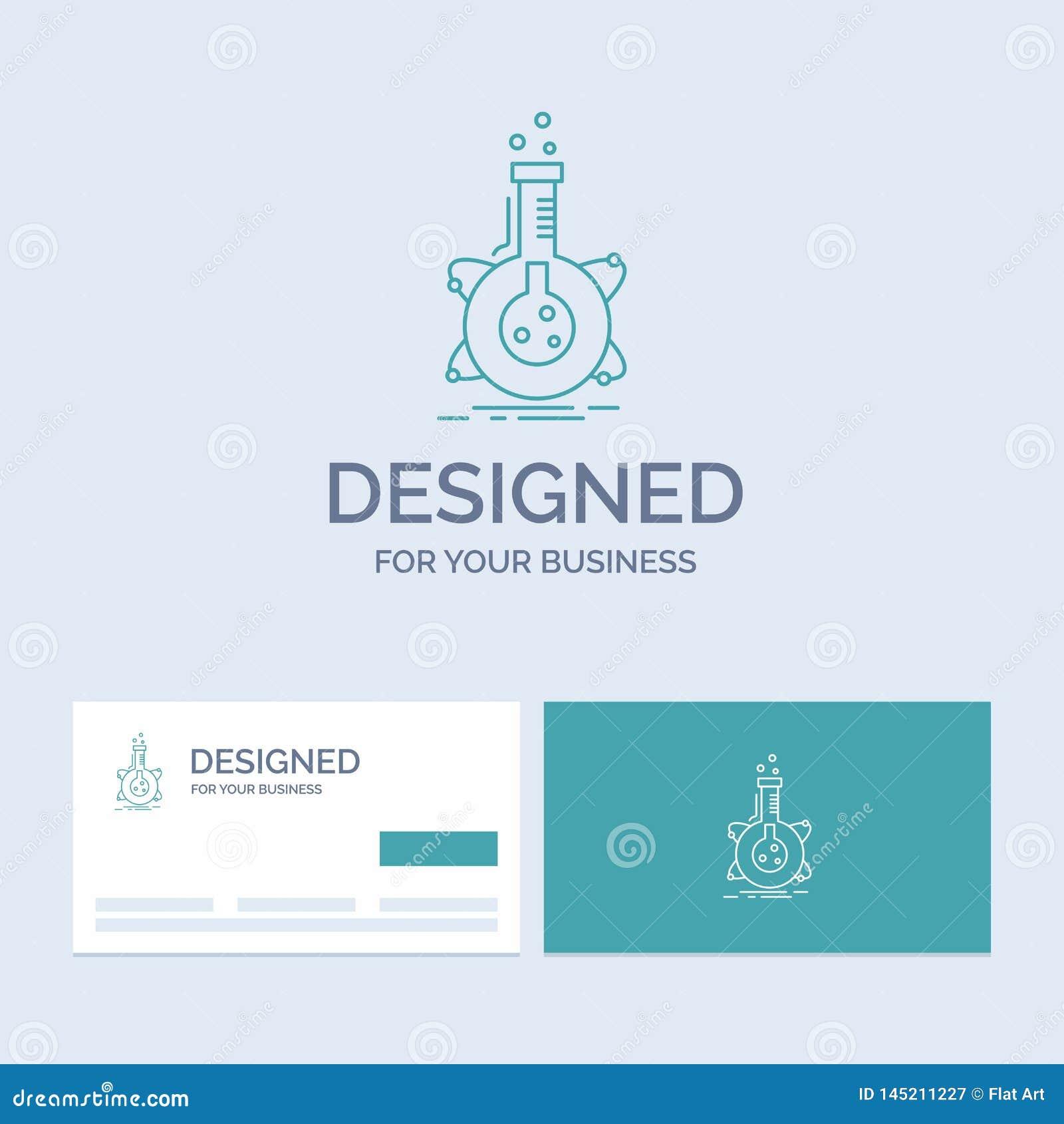 Recherche, laboratoire, flacon, tube, affaires Logo Line Icon Symbol de développement pour vos affaires Cartes de visite professi