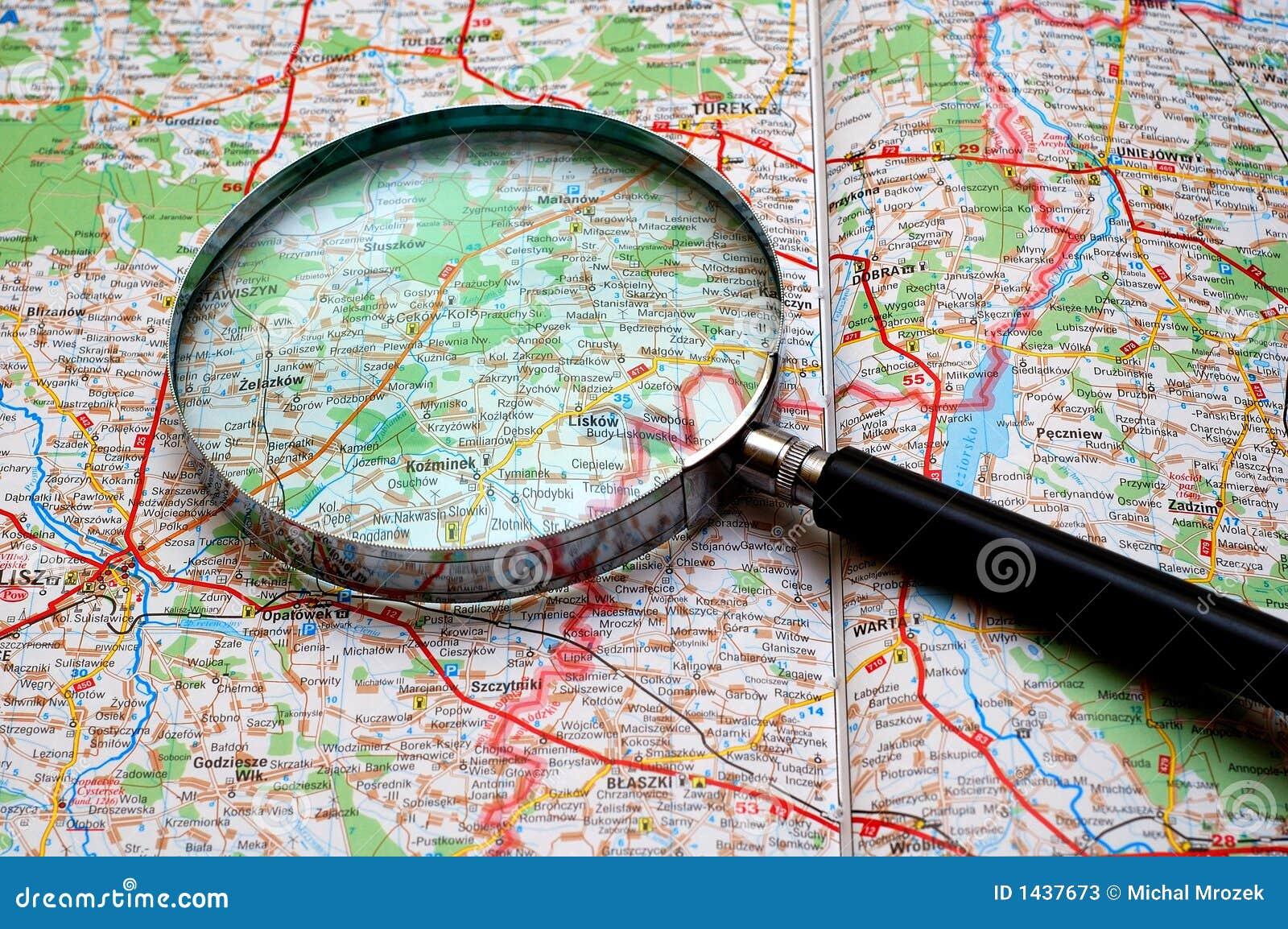 Recherche sur une carte