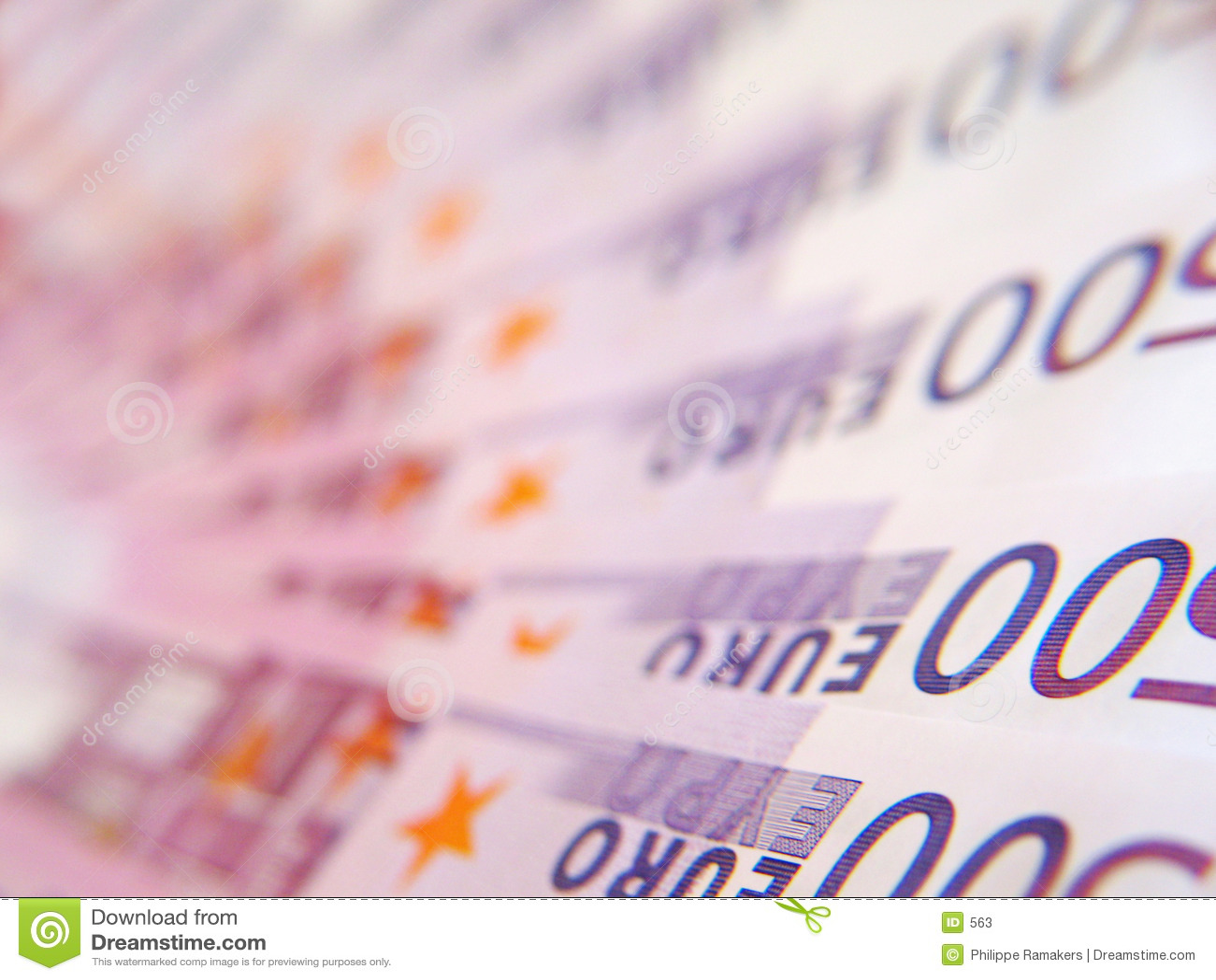 Rechnung des EURO 500