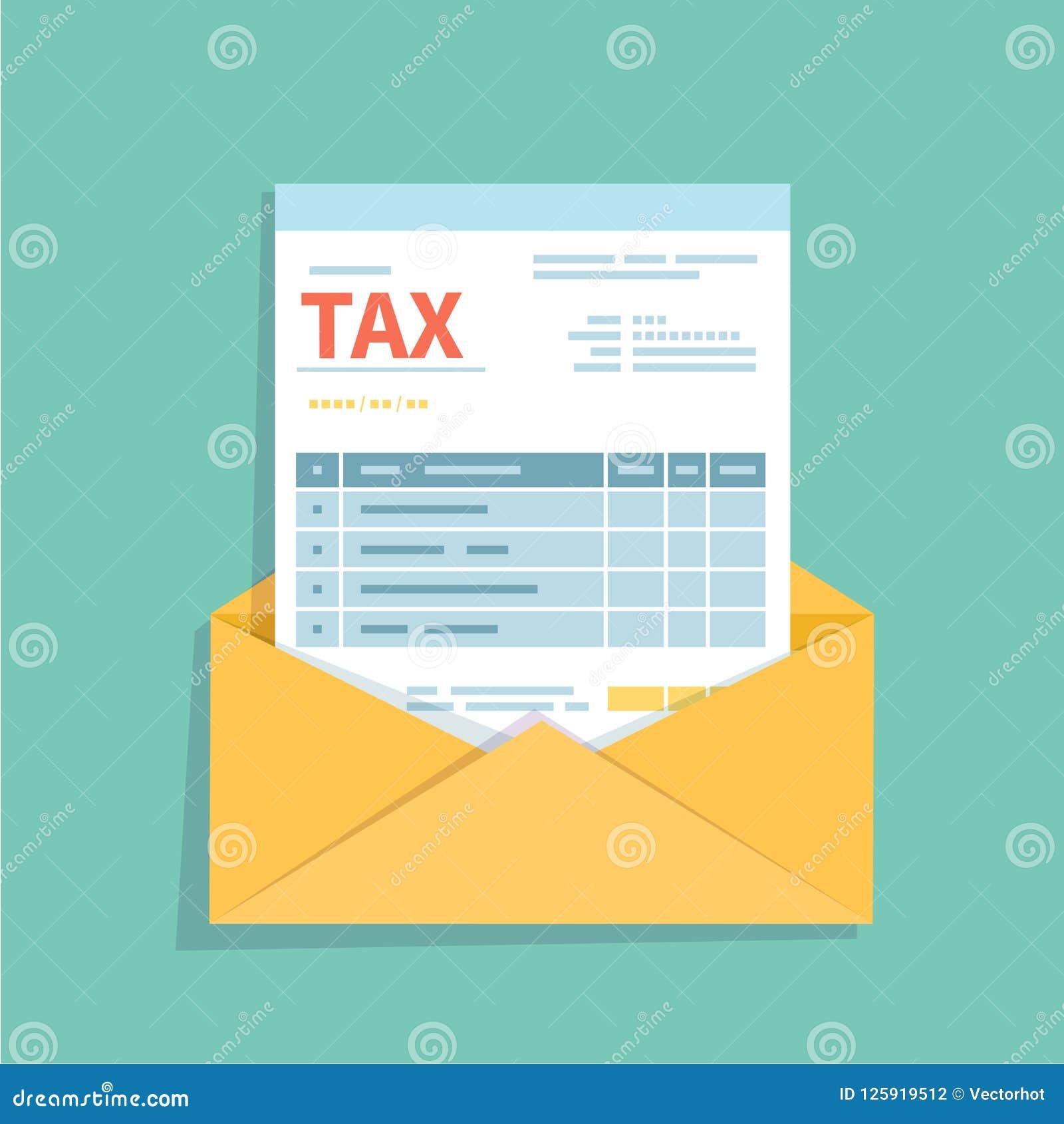 Rechnung in einem offenen Umschlag Ungefüllte, minimalistic Form des Dokuments Zahlung und Fakturierung, Geschäft oder Geldgeschä