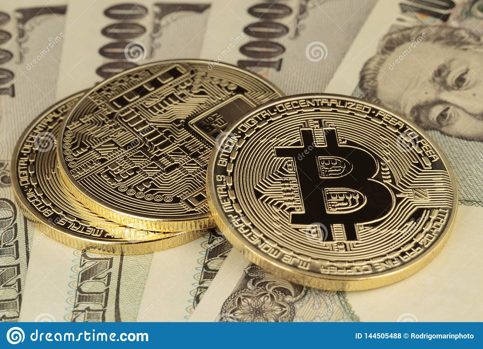 Rechnungen Bitcoins und der Yen