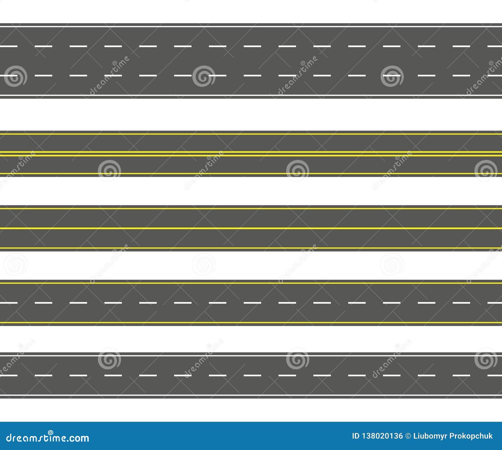 Rechte wegreeks De naadloze inzameling van asfaltwegen Weg of rijwegachtergrond