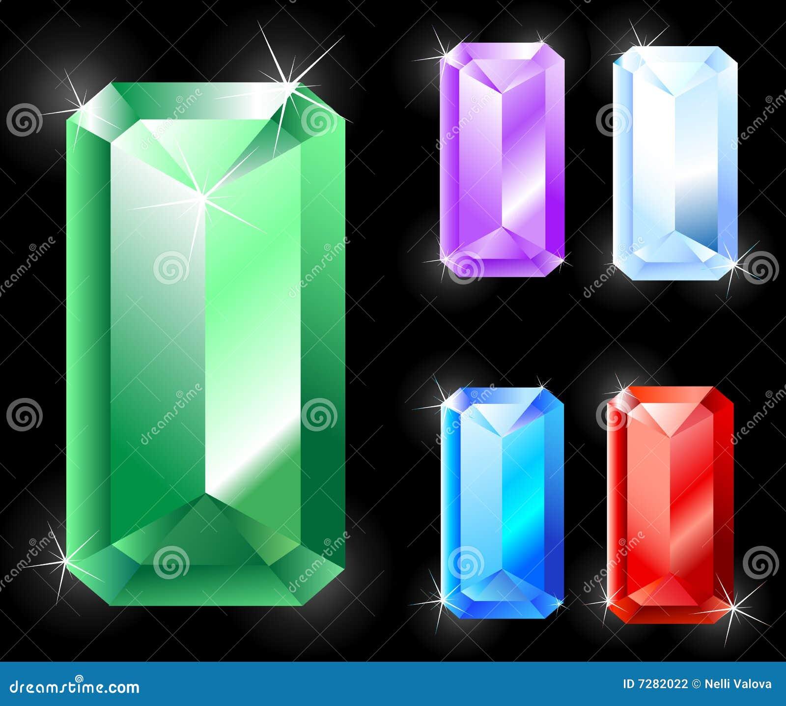Rechteckige Juwelen