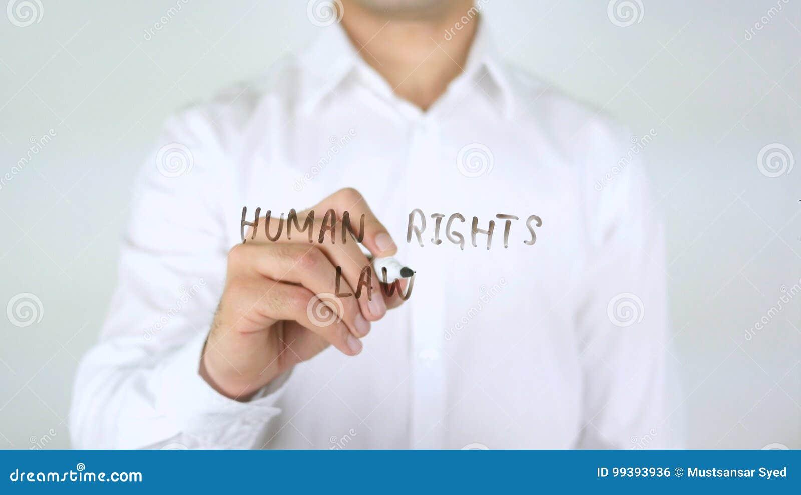 Rechten van de menswet, Zakenman Writing op Glas