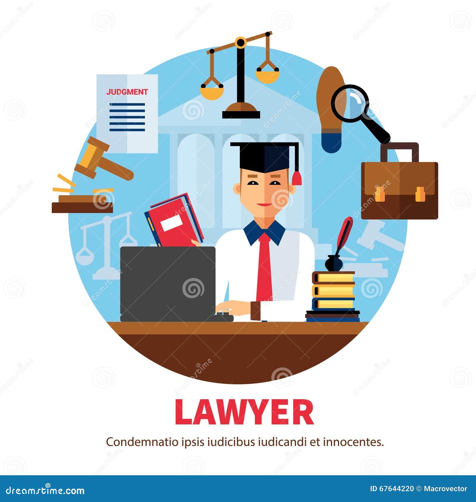 Rechtsanwalt-Jurist Legal Expert Illustration Vektor Abbildung ...