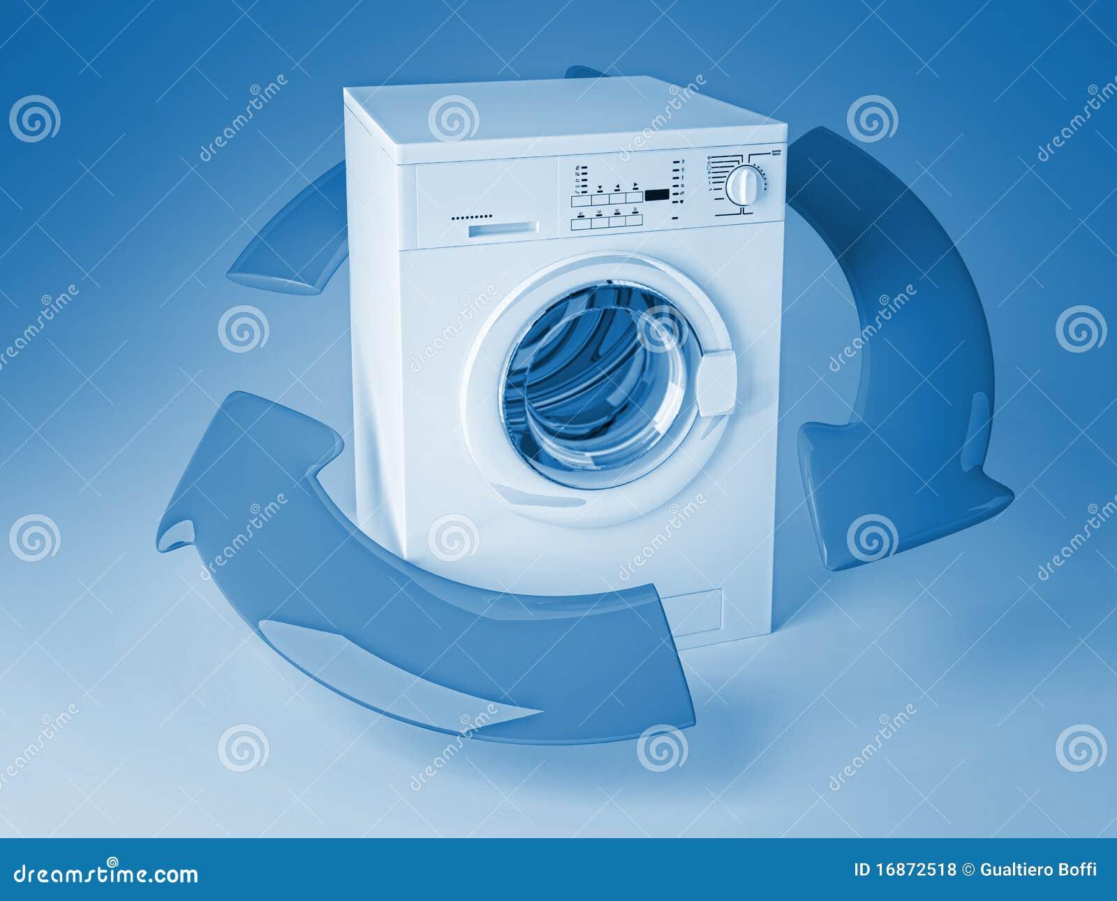 Recicl a máquina de lavar 3d