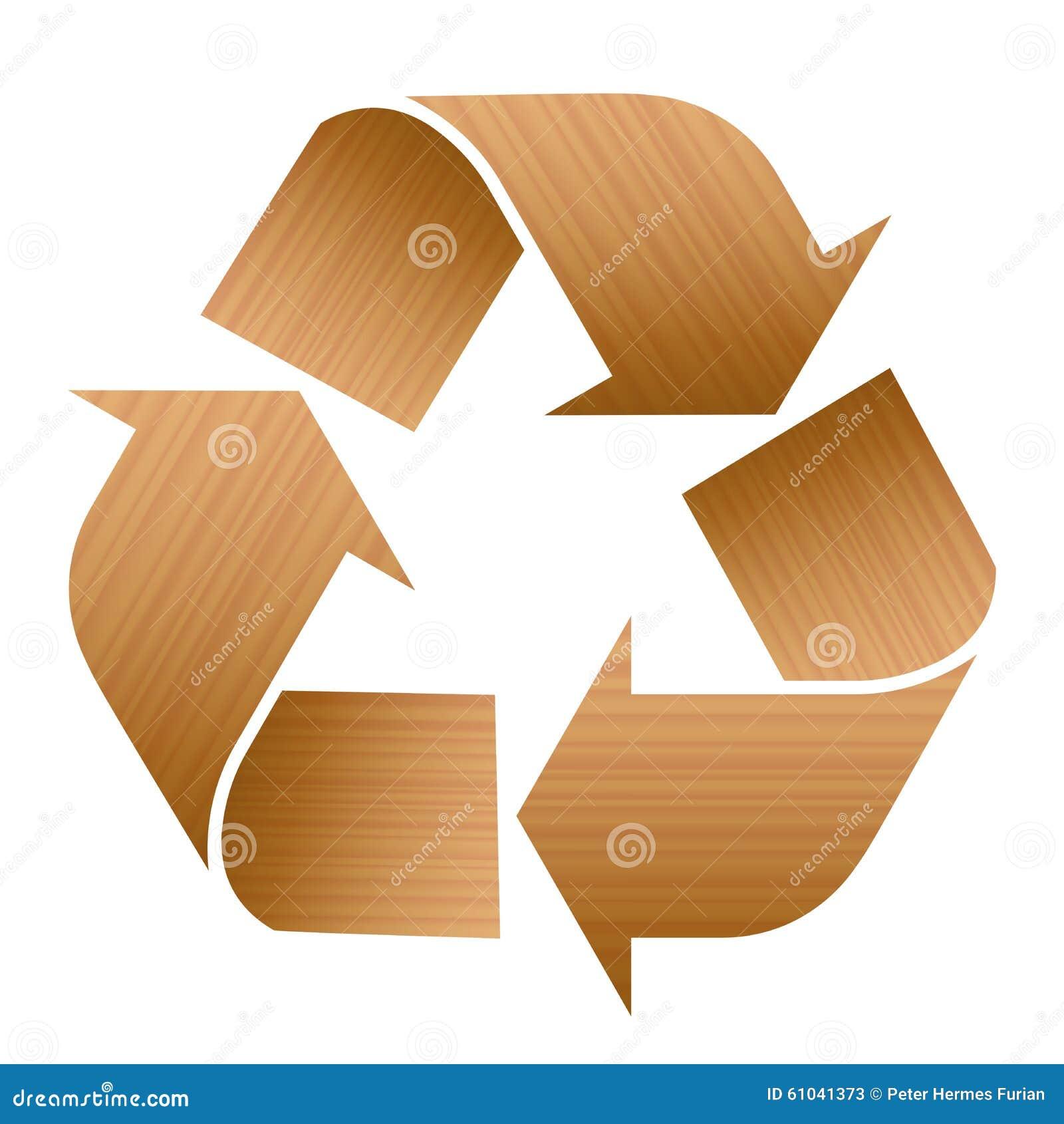 Reciclaje de la textura de madera del s mbolo ilustraci n for Imagenes de reciclaje de madera