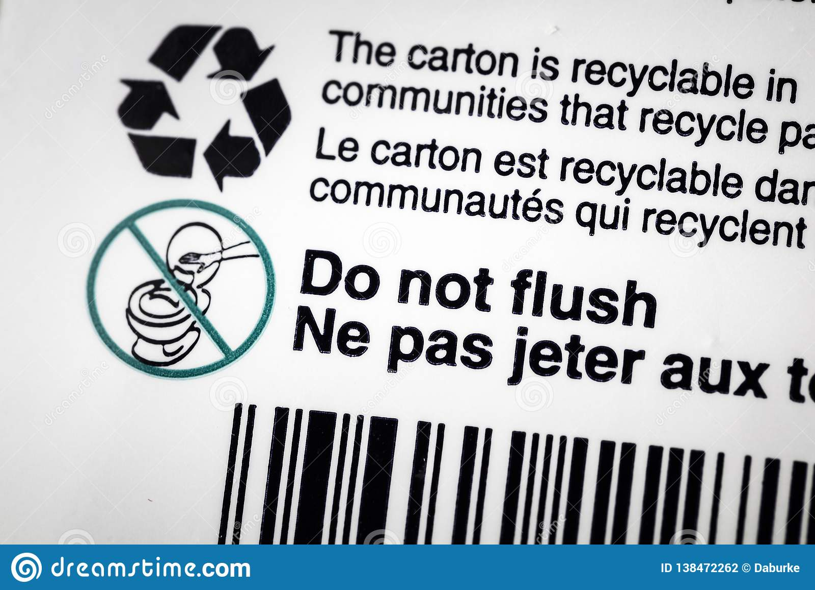 Recicle el rubor reciclable de la etiqueta del envase del cartón