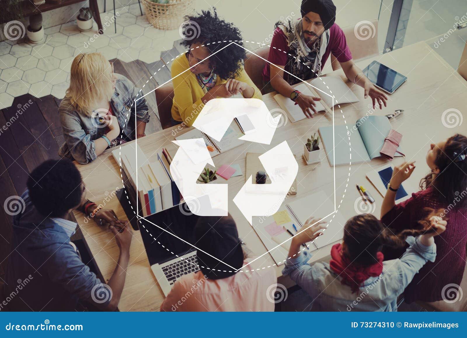 Recicle la solución biodegradable autorizan concepto gráfico