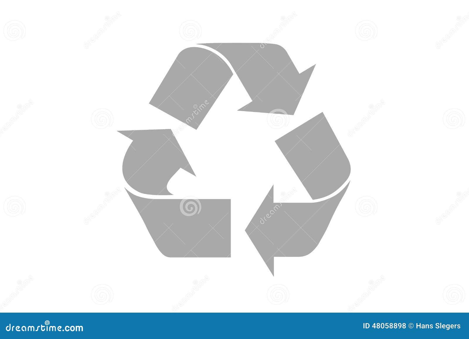 Recicle o símbolo com trajeto de grampeamento