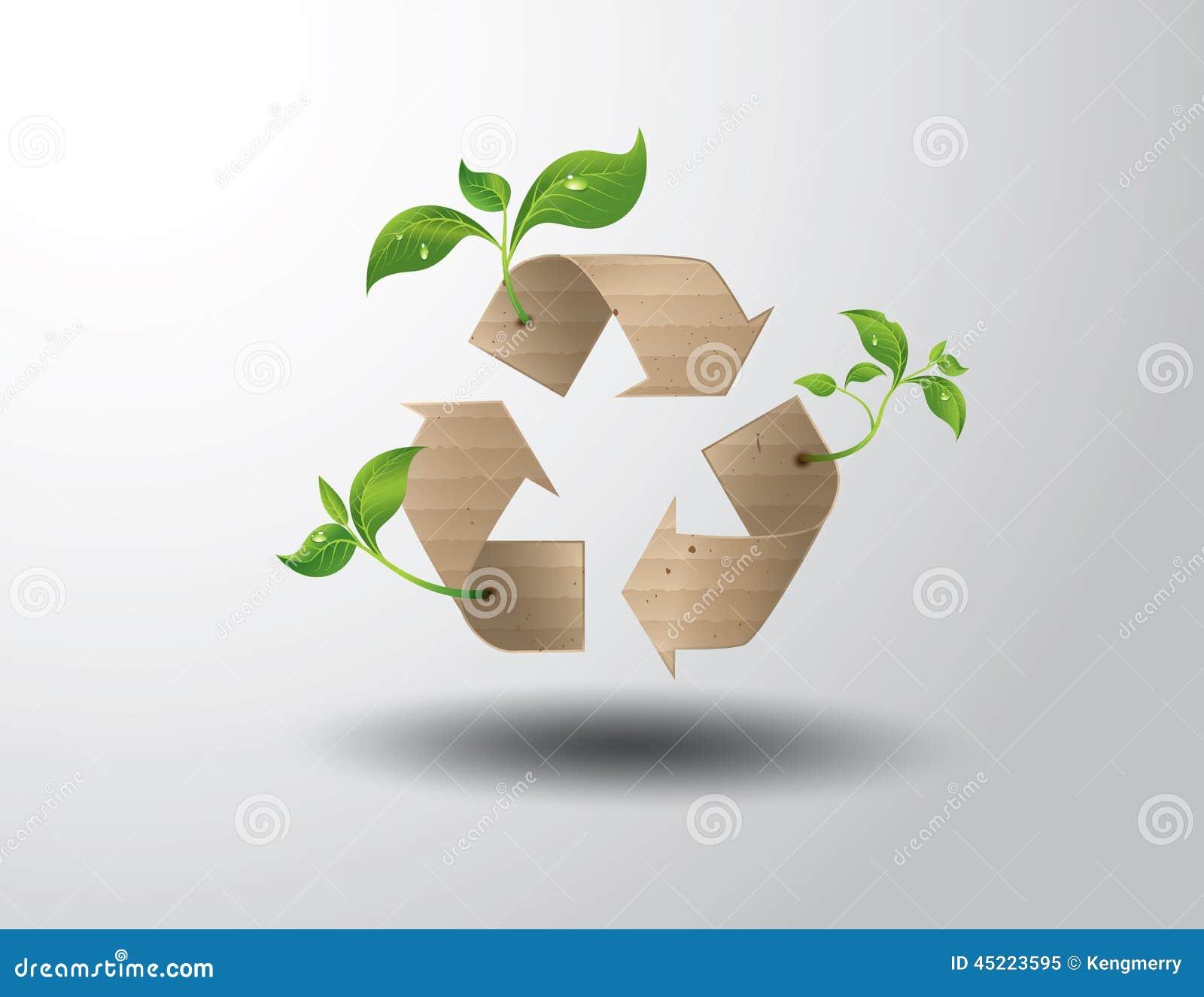 Recicle o símbolo ou o sinal da conservação