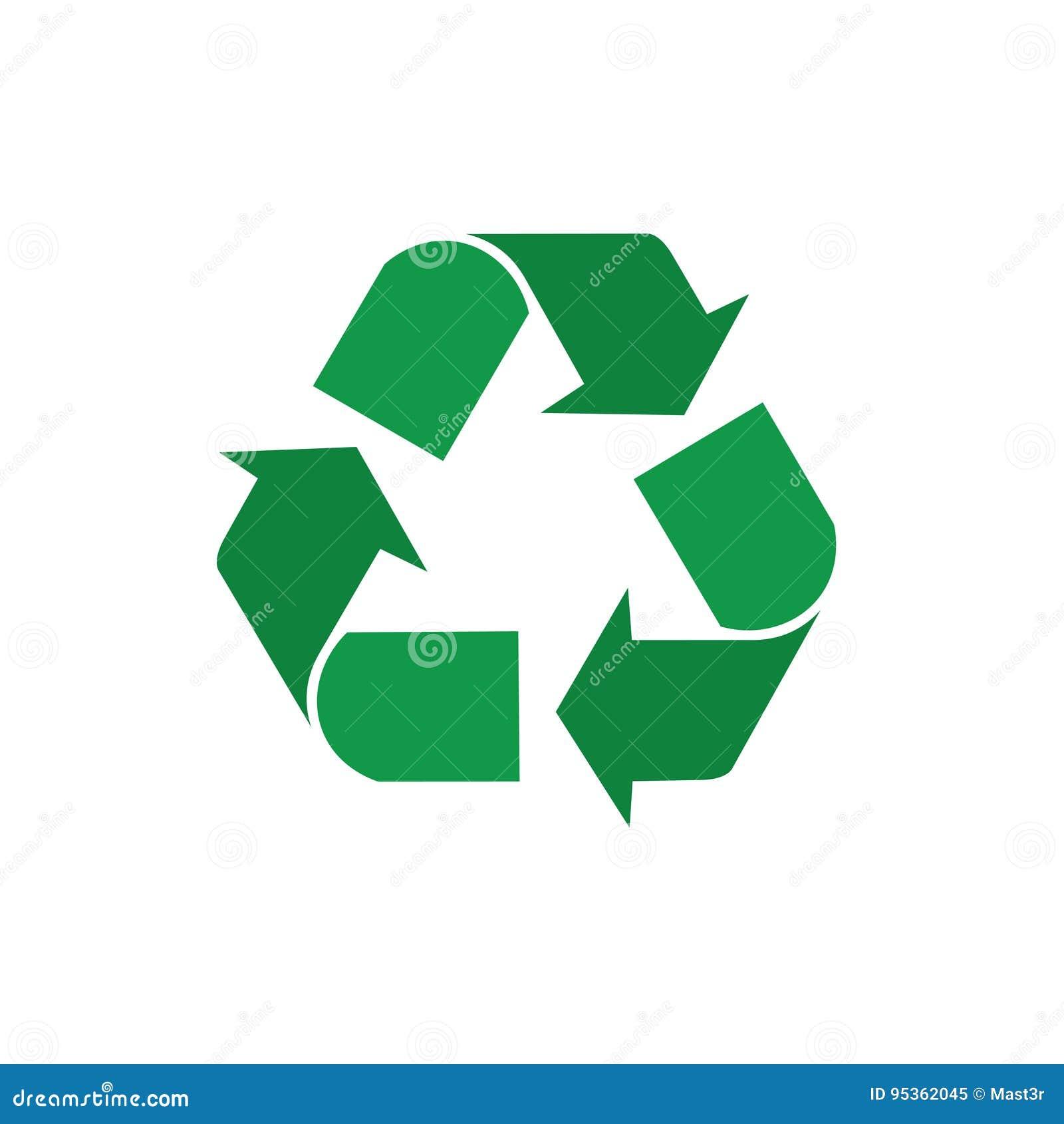 Recicle setas verdes Logo Web Icon do símbolo